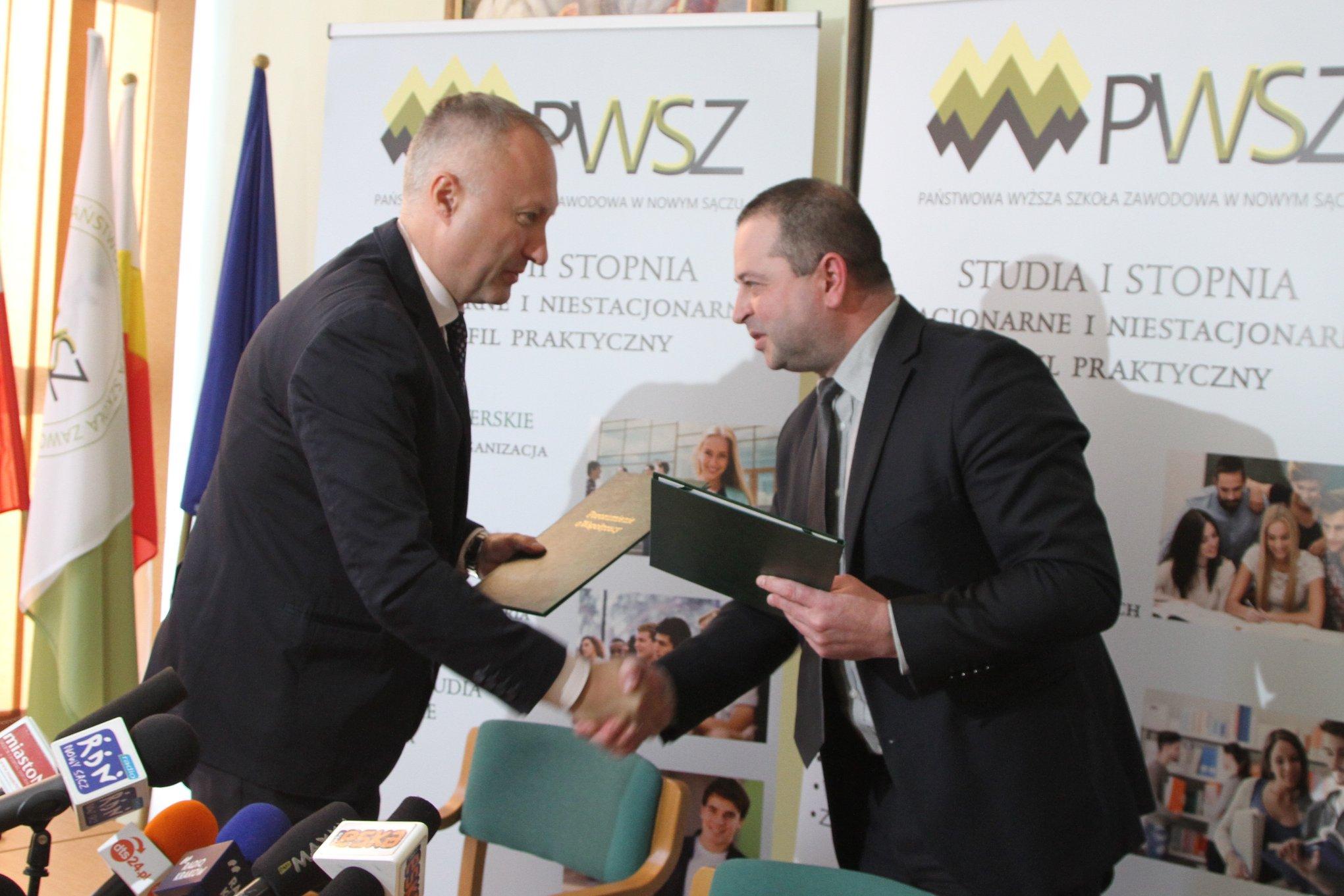 Porozumienie między Miastem Nowy Sącz a PWSZ