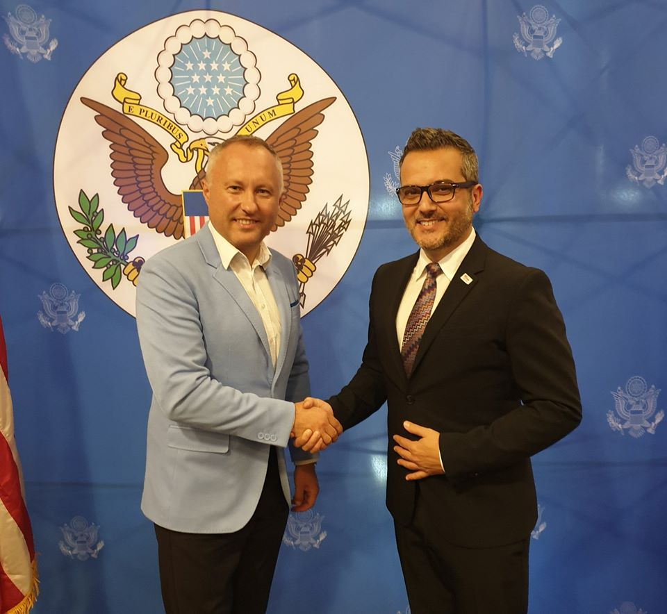 Dobre spotkanie z dotychczasowym Konsulem Generalnym USA w Krakowie B.Bix Aliu.
