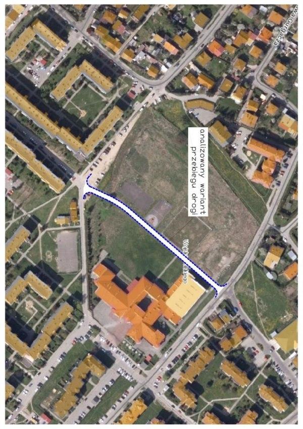 Przygotowujemy koncepcję łącznika, prowadzącego z ulicy Rokitniańczyków na wyżej położoną część osiedla Wojska Polskiego.
