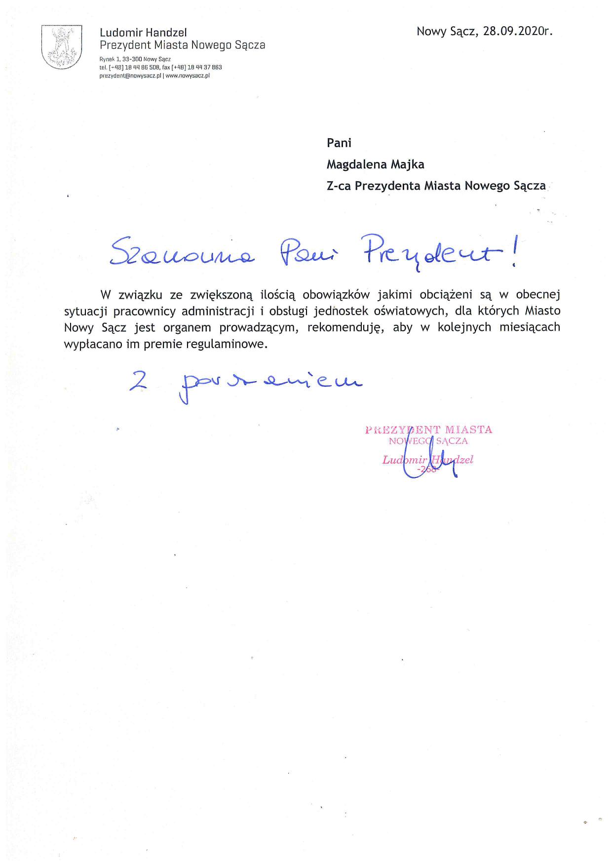 ℹ️ Ważna wiadomość dla pracowników administracji i obsługi sądeckich szkół❗️ #czasnanowysacz