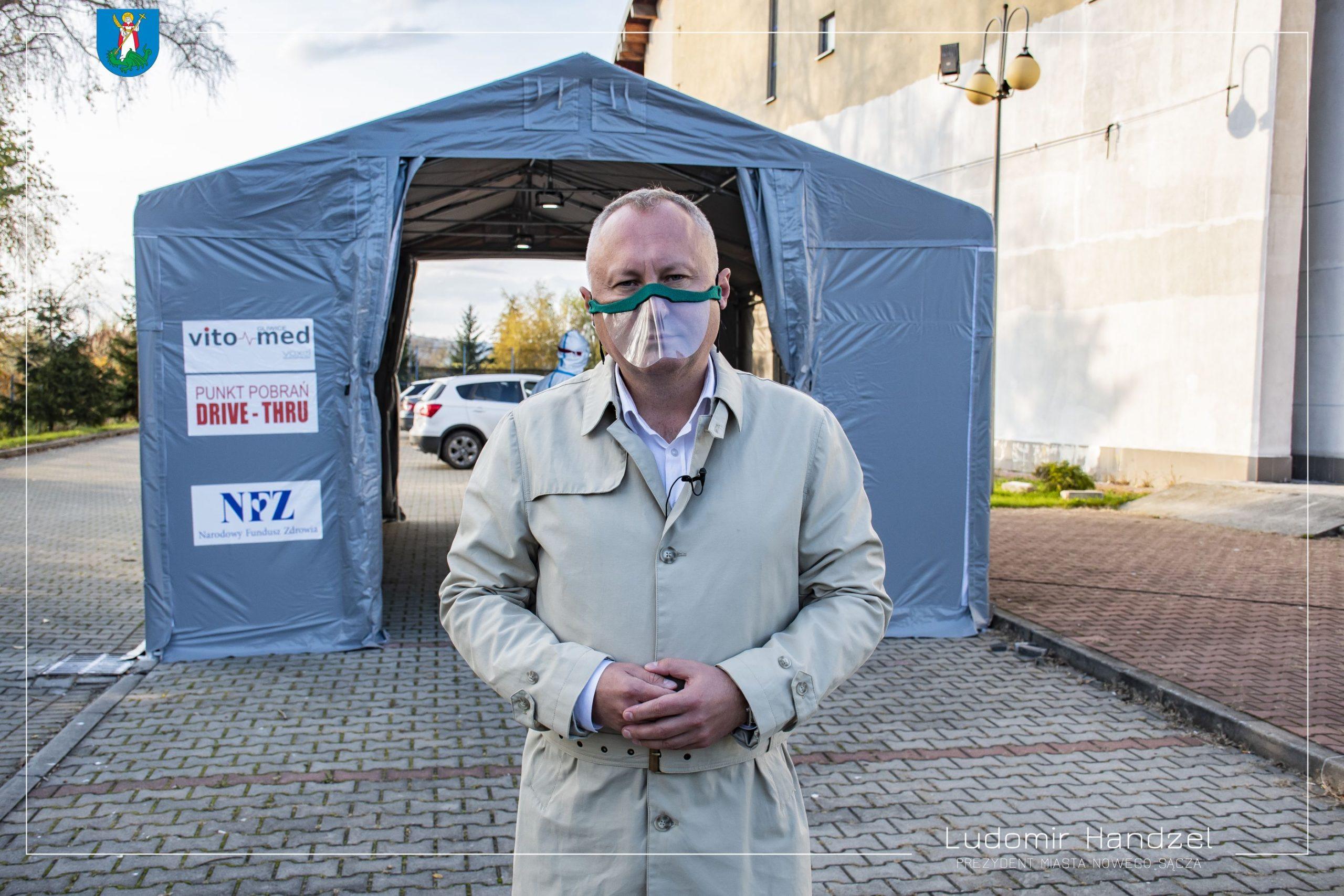 ℹ️ Otwieramy dodatkowy punkt pobierania wymazów DRIVE-THRU za halą MOSiR przy ul. Nadbrzeżnej.